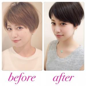 ショートヘアは髪色で印象が変わるのか?違いを比較