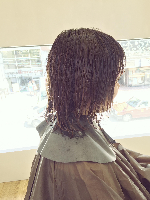 肩についてハネるボブ→襟足・サイド刈り上げ×マッシュショートヘア