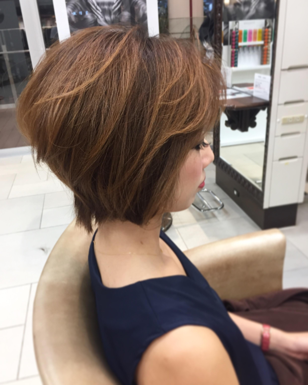40代女性にオススメ上品な大人ショートヘア