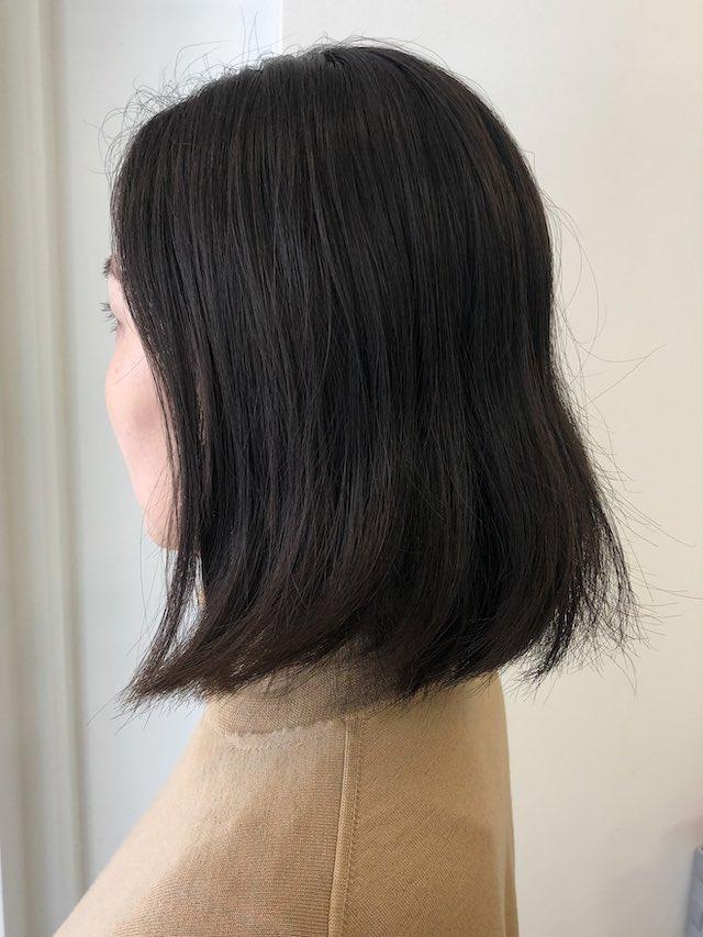 うねるクセ毛+ボブ→縮毛矯正でナチュラルストレートボブに